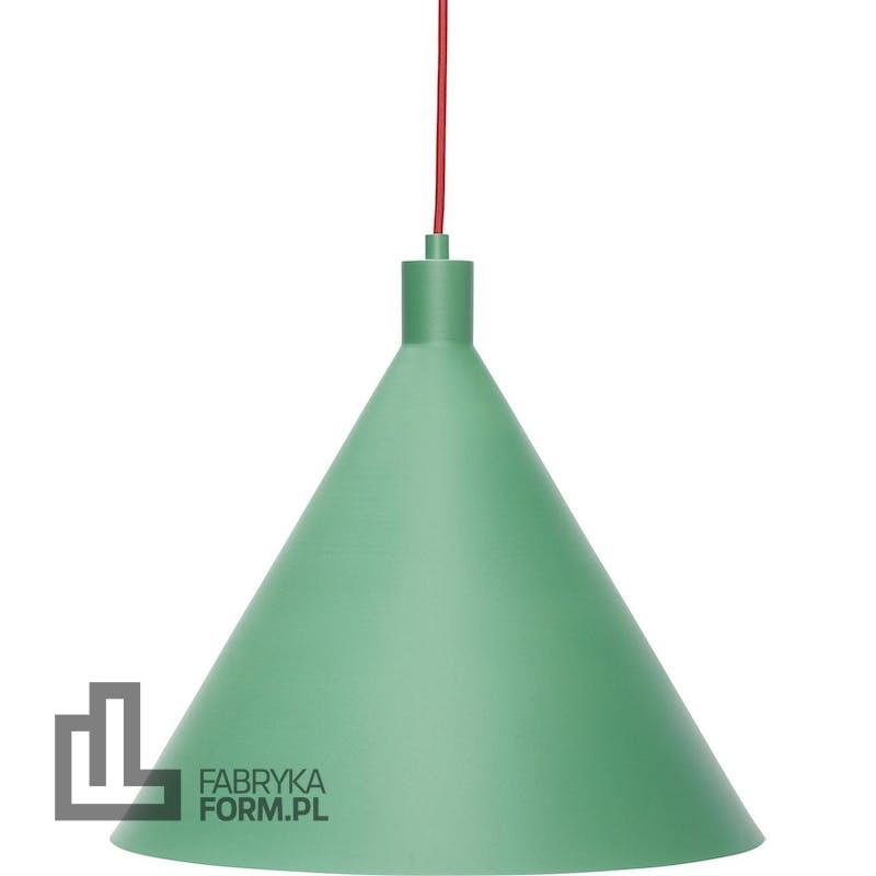 Lampa wisząca Hübsch 40 cm zielona metalowa