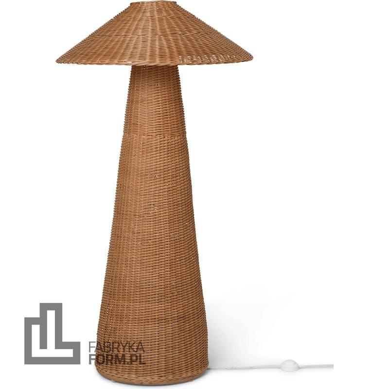 Lampa stojąca Dou rattanowa