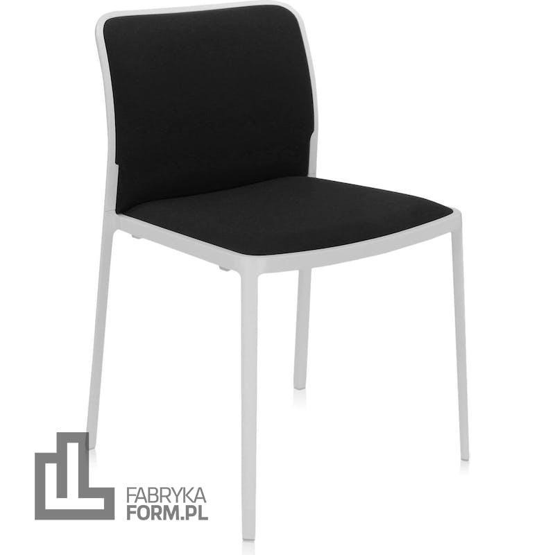 Krzesło Audrey Soft czarne z białą ramą