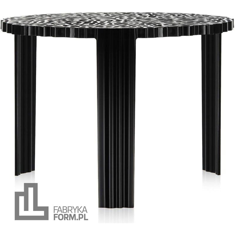 Stolik T-Table 36 cm czarny nieprzezroczysty