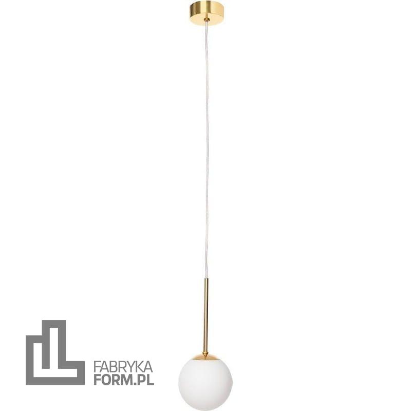 Lampa wisząca Lamia złota z transparentnym przewodem