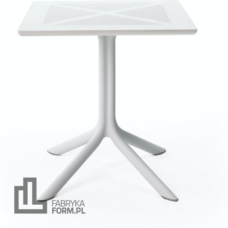 Stolik ogrodowy Clipx 70 x 70 cm biały