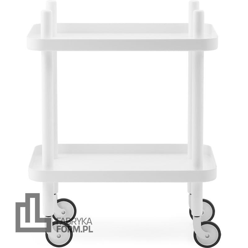 Stolik Block biały z białą ramą