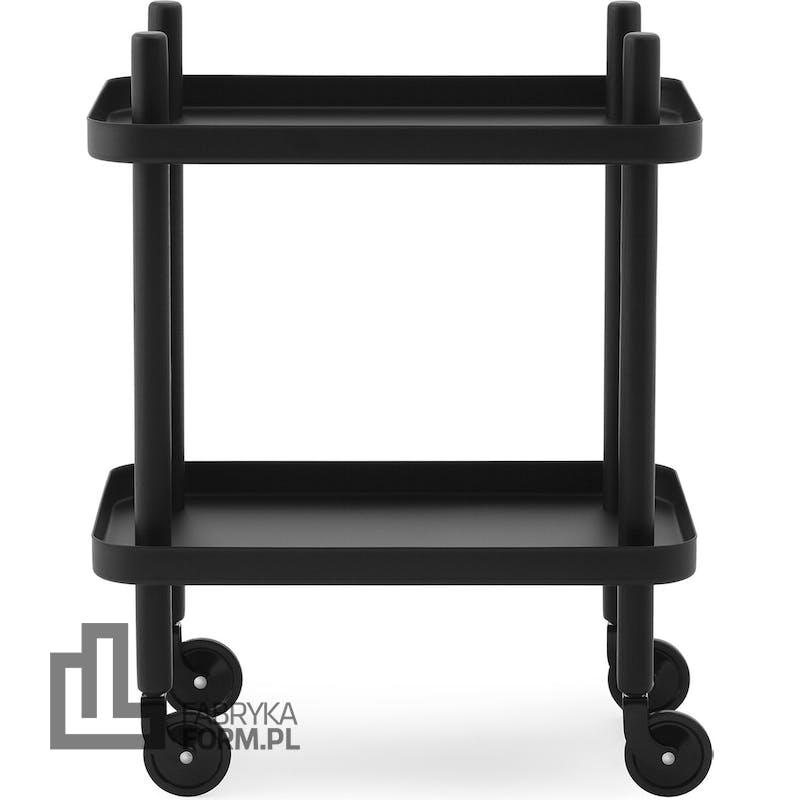 Stolik Block czarny z czarną ramą