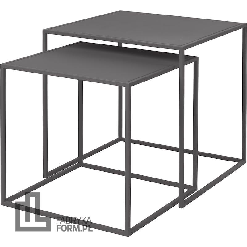 Stoliki w zestawie Fera steel gray 2 szt.