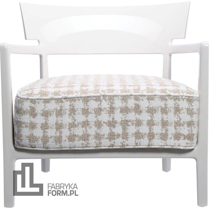 Fotel Cara wzorzysty beżowy