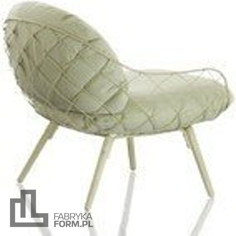 Fotel niski Pina zielone rama i siedzisko, jesionowe nogi