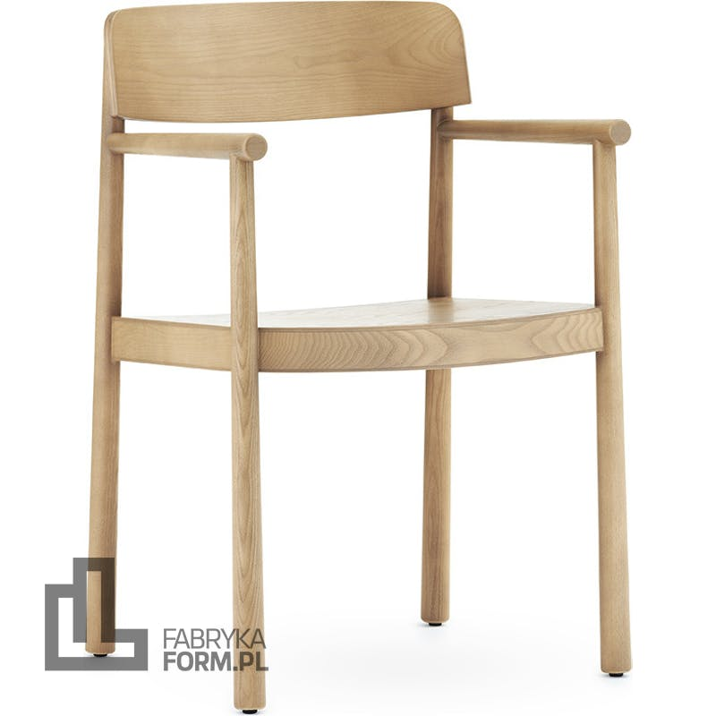 Krzesło Timb naturalne z podłokietnikami
