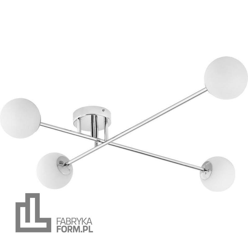 Lampa sufitowa Astra 4 srebrna
