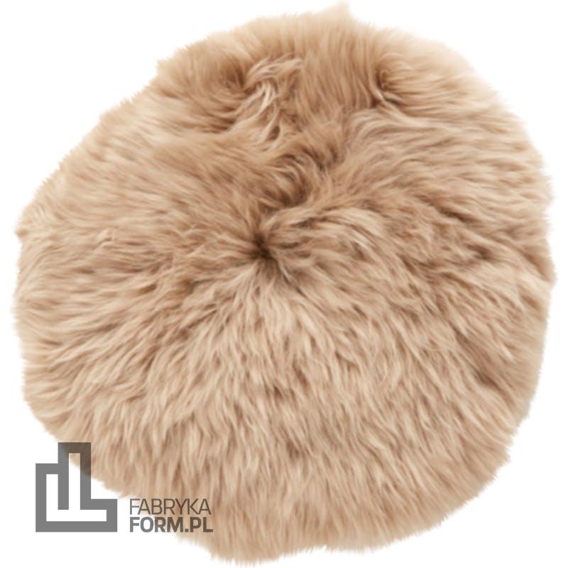 Poduszka na krzesło Hübsch beżowa futrzasta