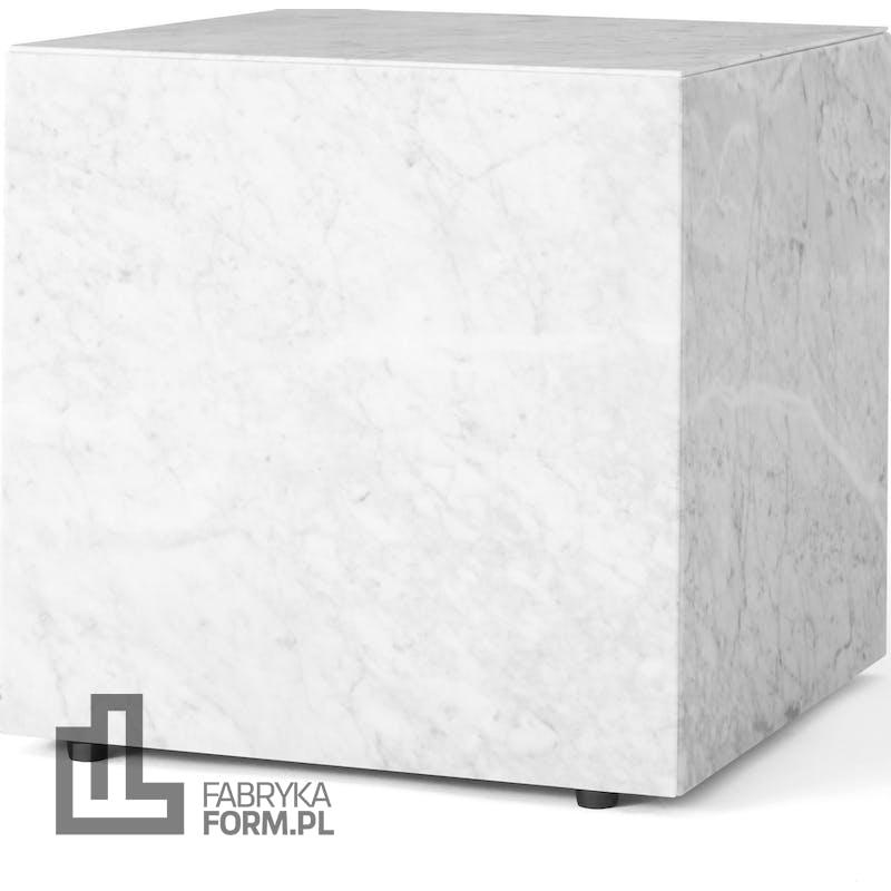 Postument marmurowy Menu sześcian biały marmur