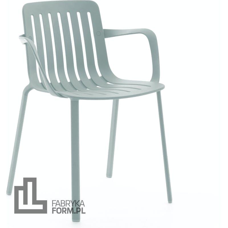 Krzesło Plato jasnoniebieskie z podłokietnikami