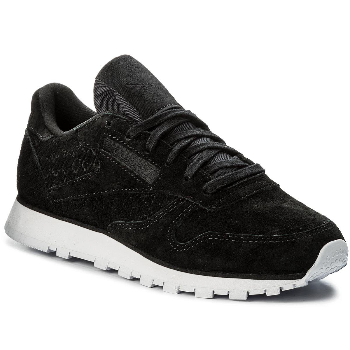 Buty Reebok - Cl Lthr Woven Emb BT0005 Black/White