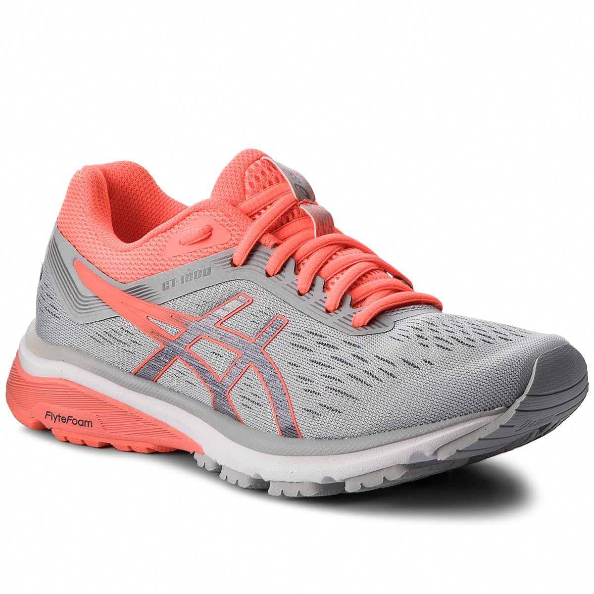 Buty ASICS - GT-1000 7 1012A030  Mid Grey/Flash Coral 021