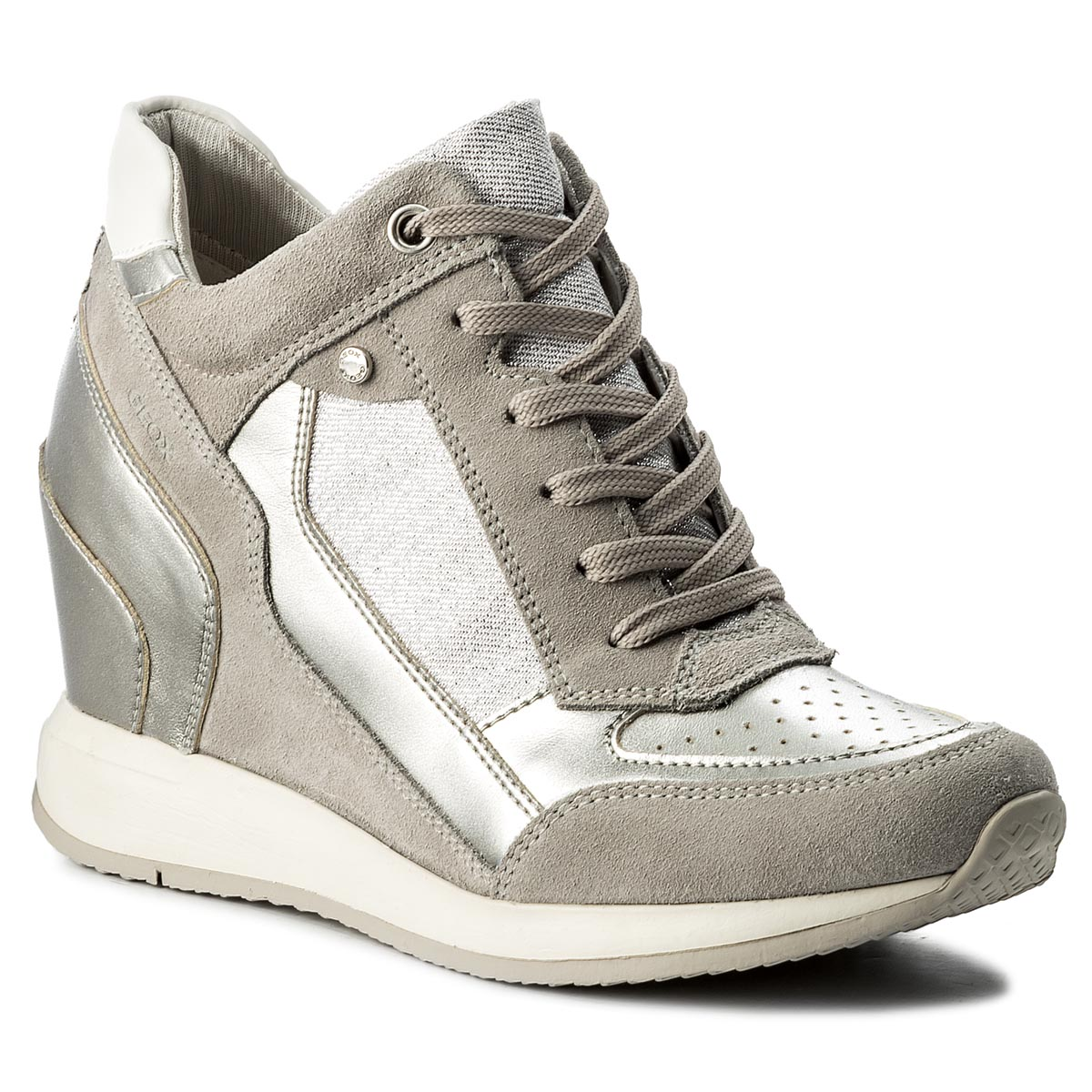 Sneakersy GEOX - D Nydame A D540QA 022AS C1355 Lt Grey/Silver