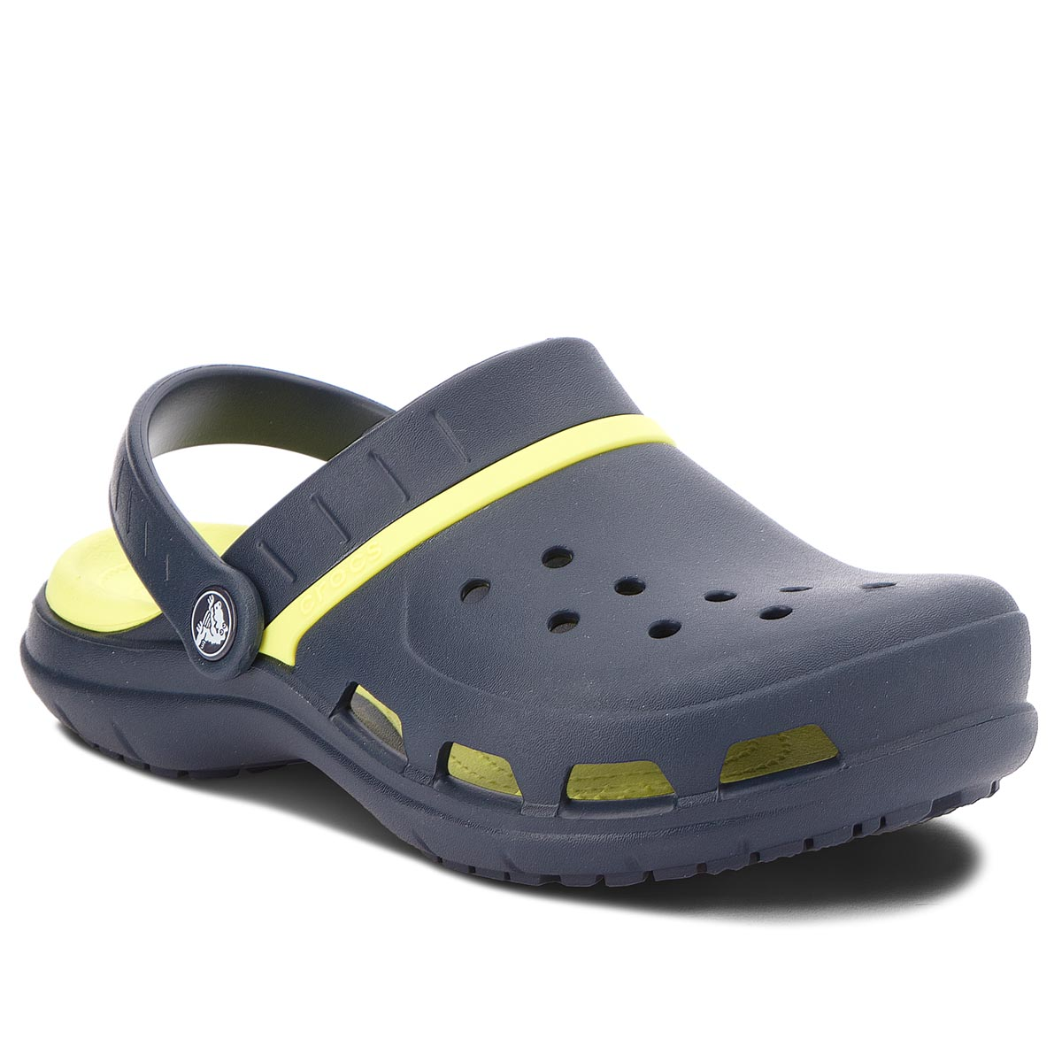 Klapki CROCS - Modi Sport Clog 204143 Navy/Tennis Ball Green