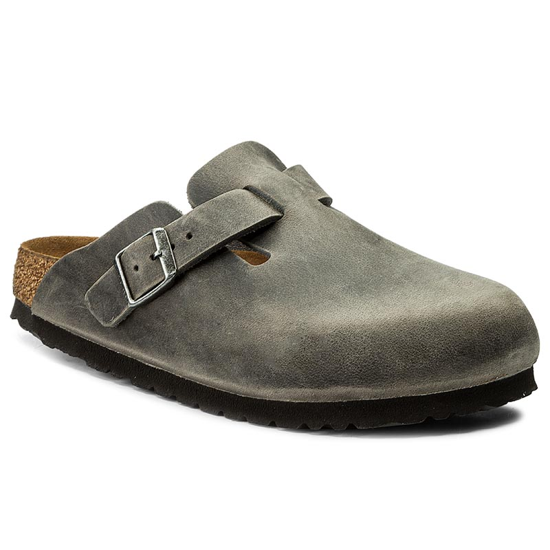 Klapki BIRKENSTOCK - Boston 0459083 Iron