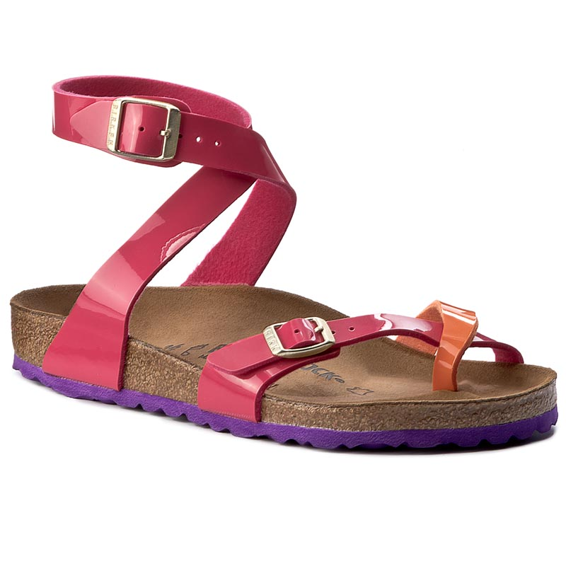 Japonki BIRKENSTOCK - Yara 1004054 Tropical Orange Pink