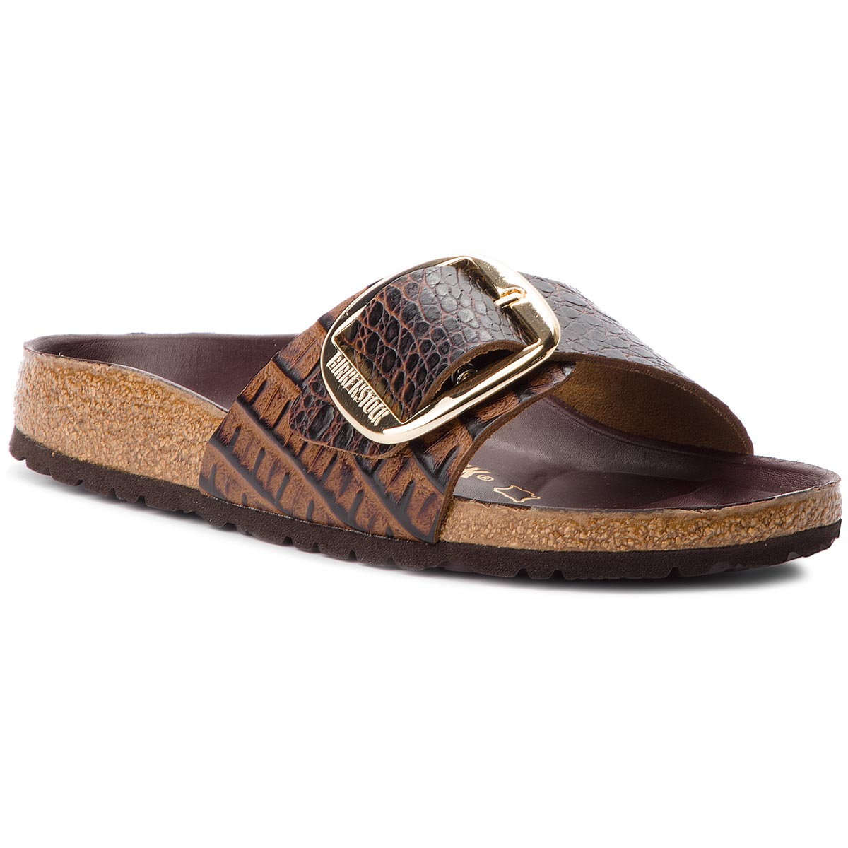 Klapki BIRKENSTOCK - Madrid Big Buckle 1010769 Gator Brown