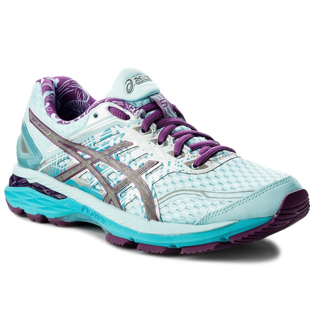 Buty ASICS - GT-2000 5 Lite-Show T761N Pale Blue/Orchid/Reflective 3936