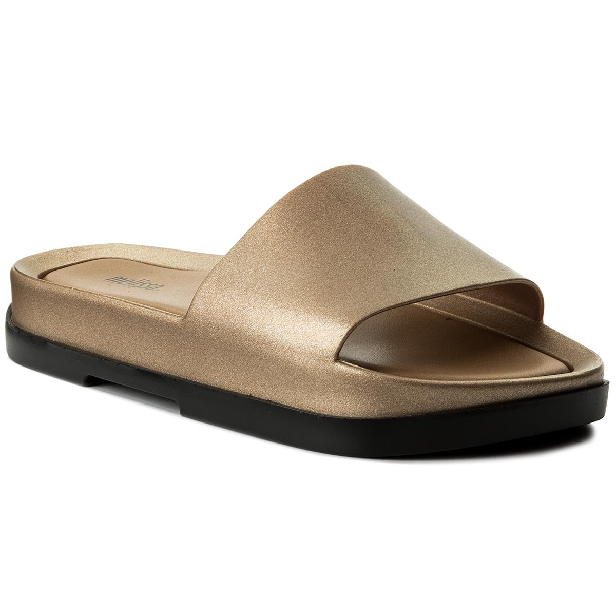 Klapki MELISSA - Beach Slide Platform A 32350 Black/Gold 50919