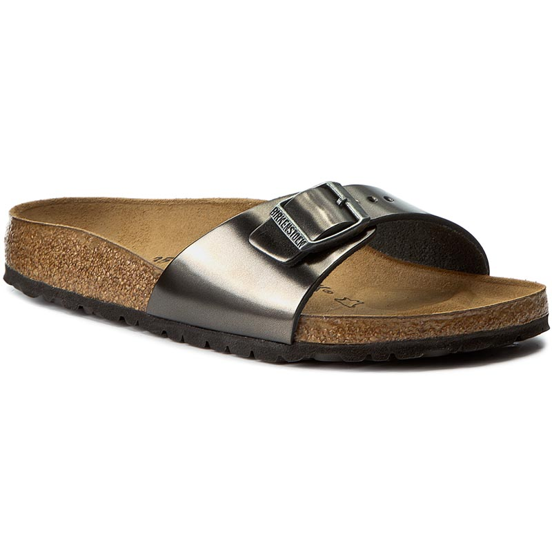 Klapki BIRKENSTOCK - Madrid 1004053 Metallic Anthracite
