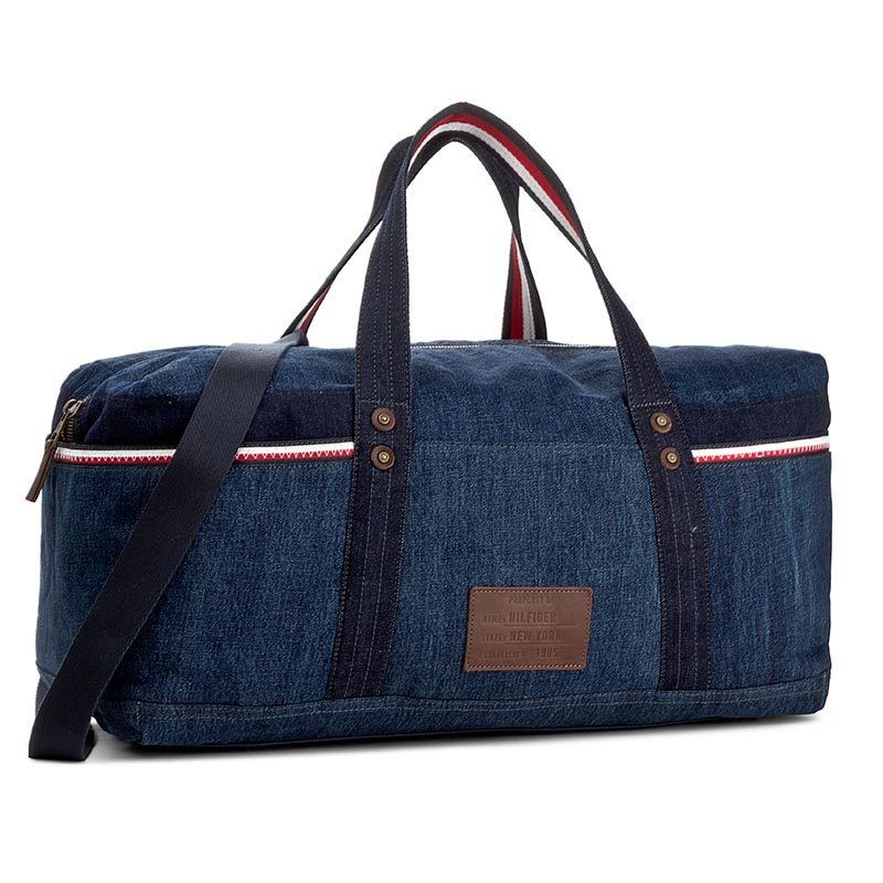 Torba TOMMY HILFIGER - Casual Story Duffle Denim AM0AM02345 440
