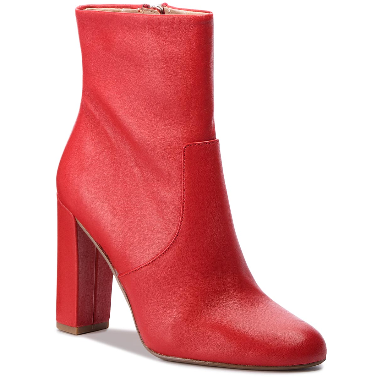 Botki STEVE MADDEN - Editor Ankle Boot SM11000088-03001-607 Red Leather