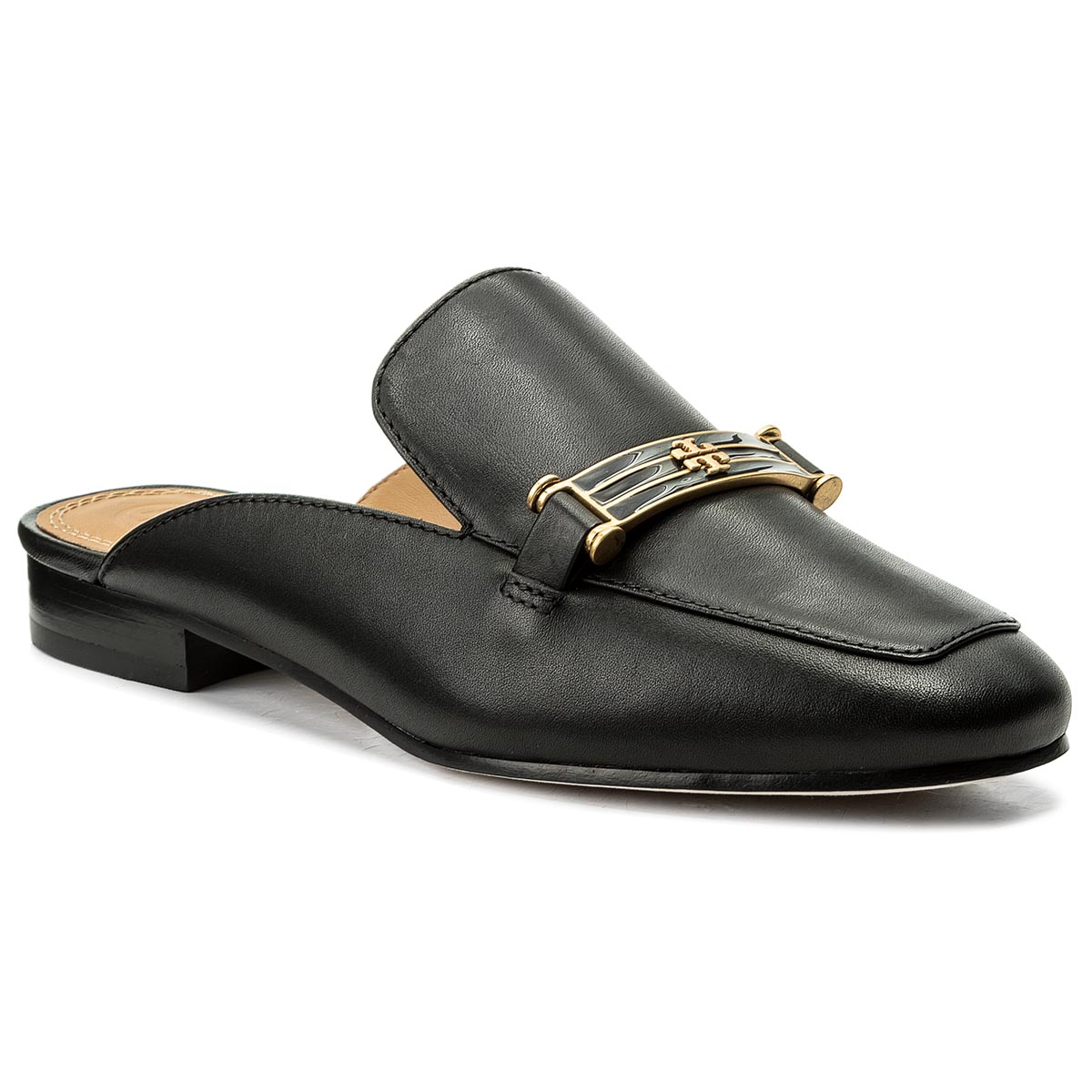Klapki TORY BURCH - Amelia Backless Loafer 48282 Perfect Black 006