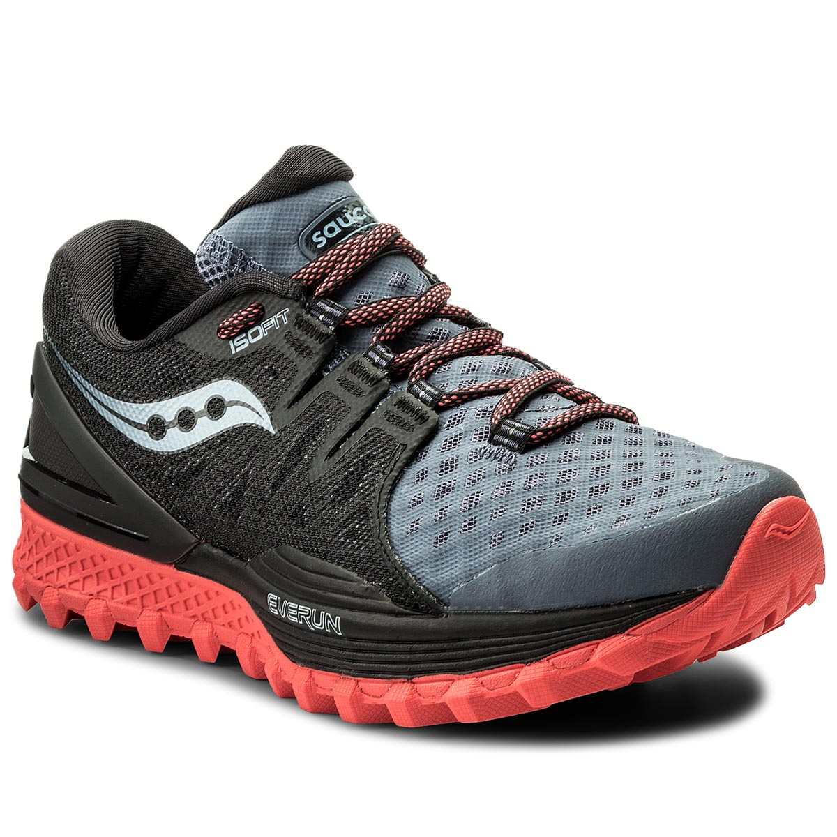Buty SAUCONY - Xodus Iso 2 S10387-5 Gry/Blk/Vizi Red