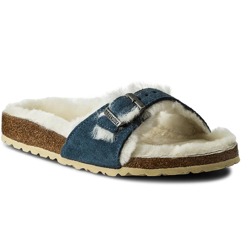 Klapki BIRKENSTOCK - Madrid Fell 339751 Steel Blue