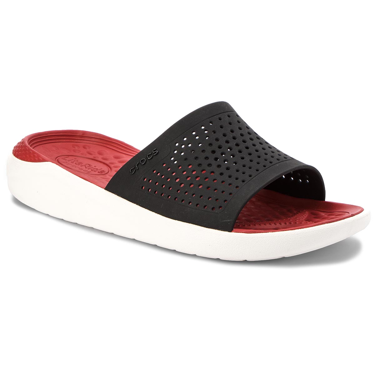 Klapki CROCS - Literide Slide 205183 Black/White