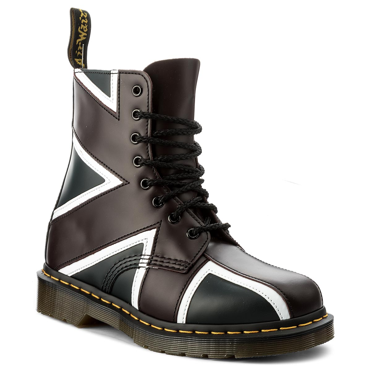 Glany DR. MARTENS - Pascal Brit 22774410 Navy/Oxblood/White