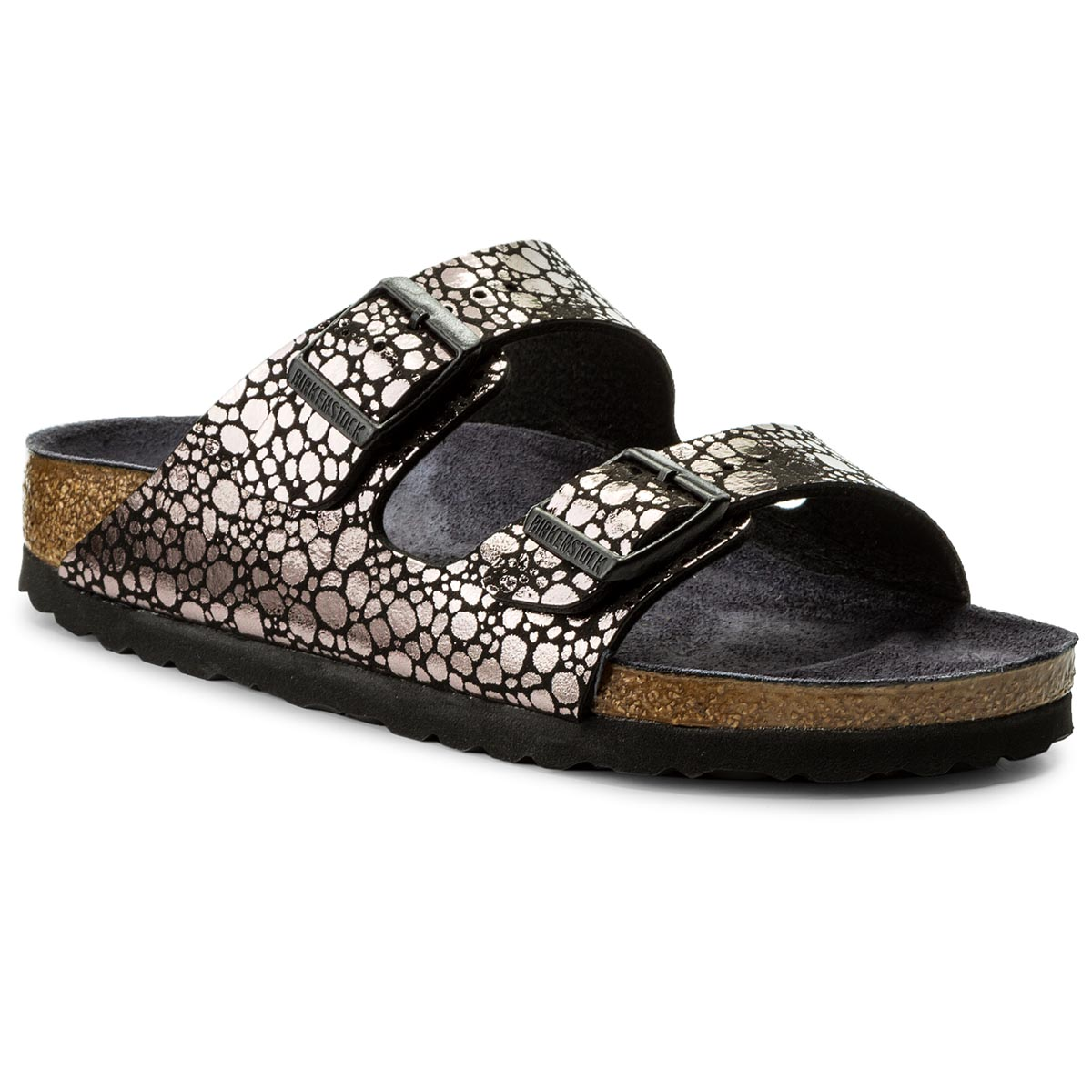 Klapki BIRKENSTOCK - Arizona Bs 1008872  Metallic Stones Black