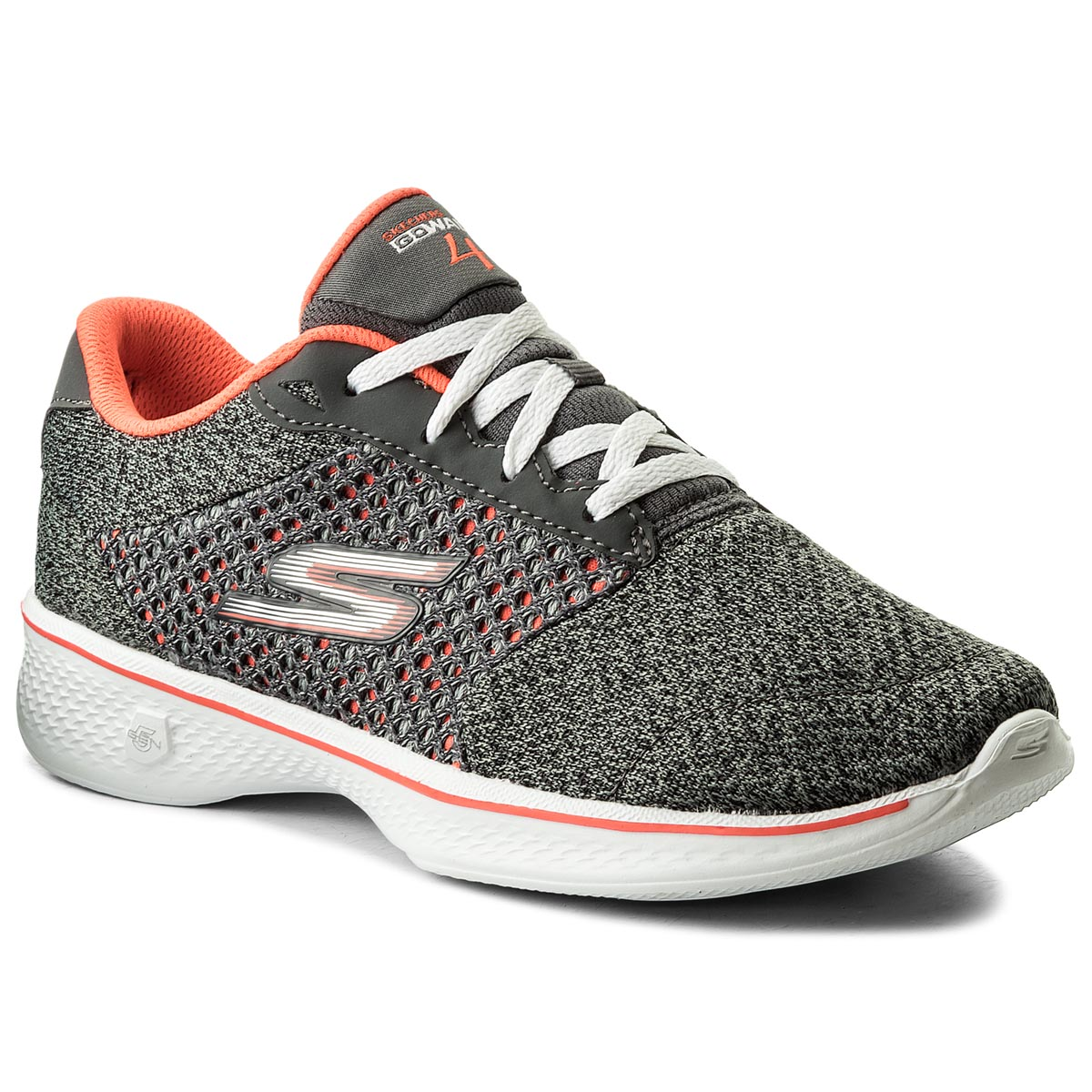Buty SKECHERS - Exceed 14146/CCCL Charcoal/Coral
