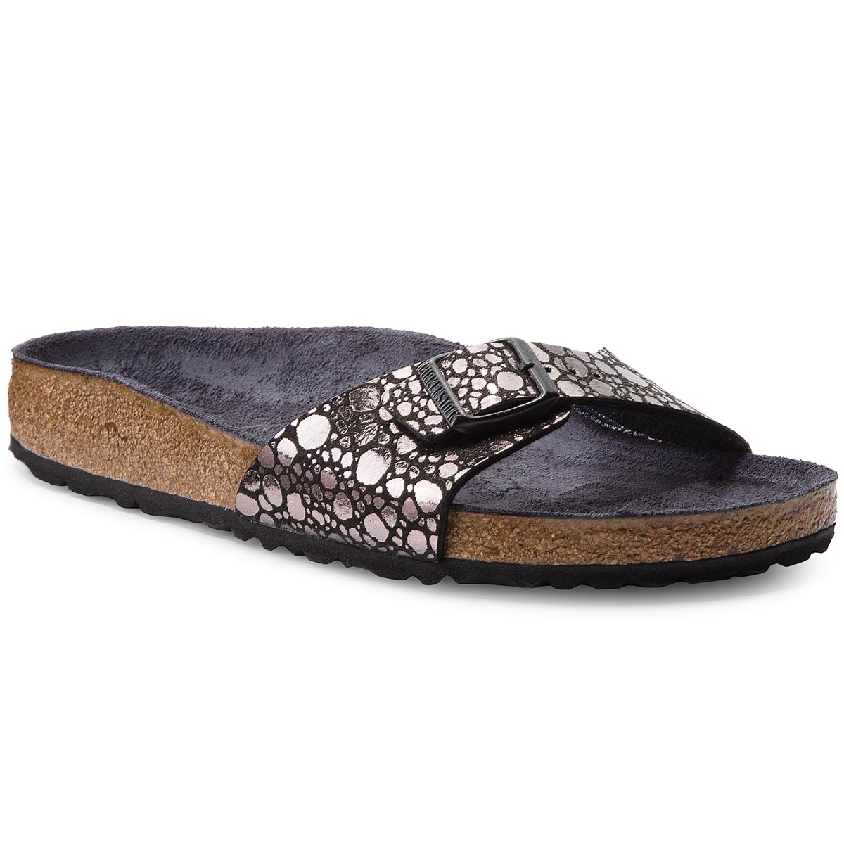Klapki BIRKENSTOCK - Madrid Bs 1008804 Metallic Stones Black