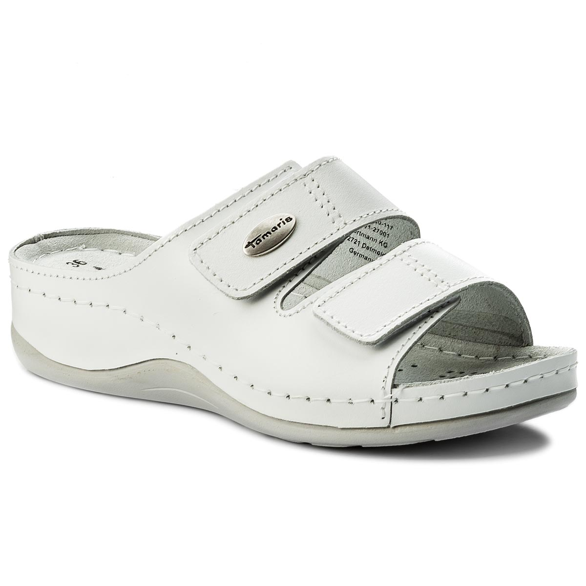 Klapki TAMARIS - 1-27510-20 White Leather 117