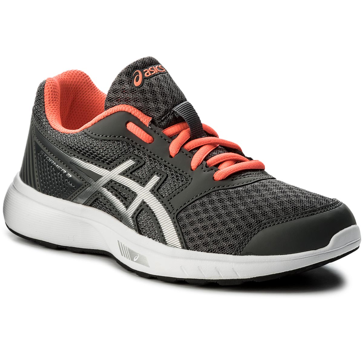 Buty ASICS - Stormer 2 T893N  Carbon/Silver/Flash Coral 9793