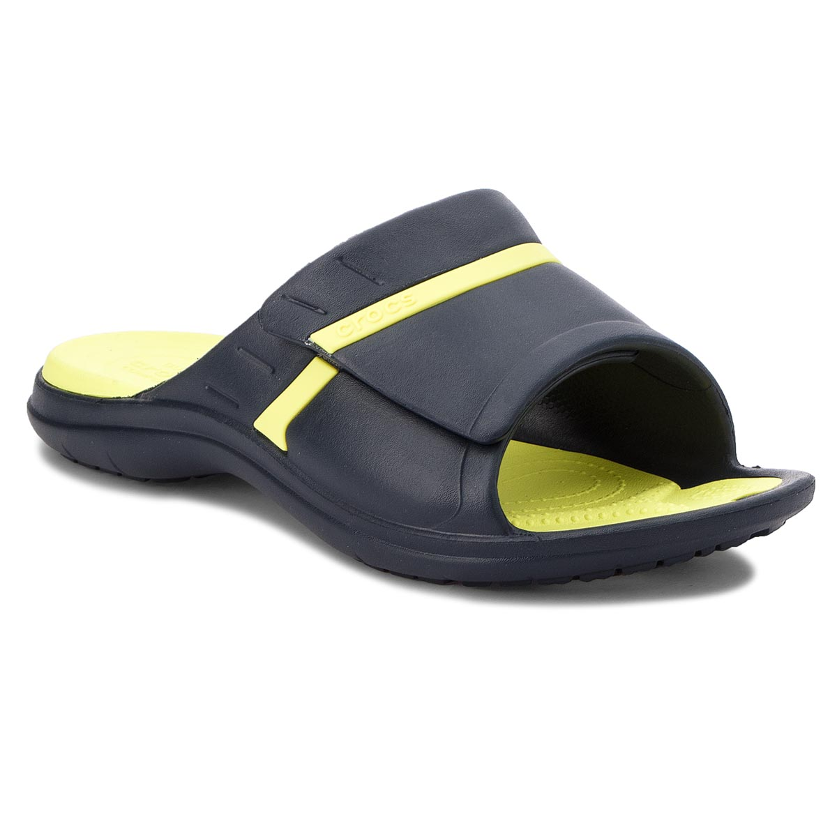 Klapki CROCS - Modi Sport Slide 204144 Navy/Tennis Ball Green