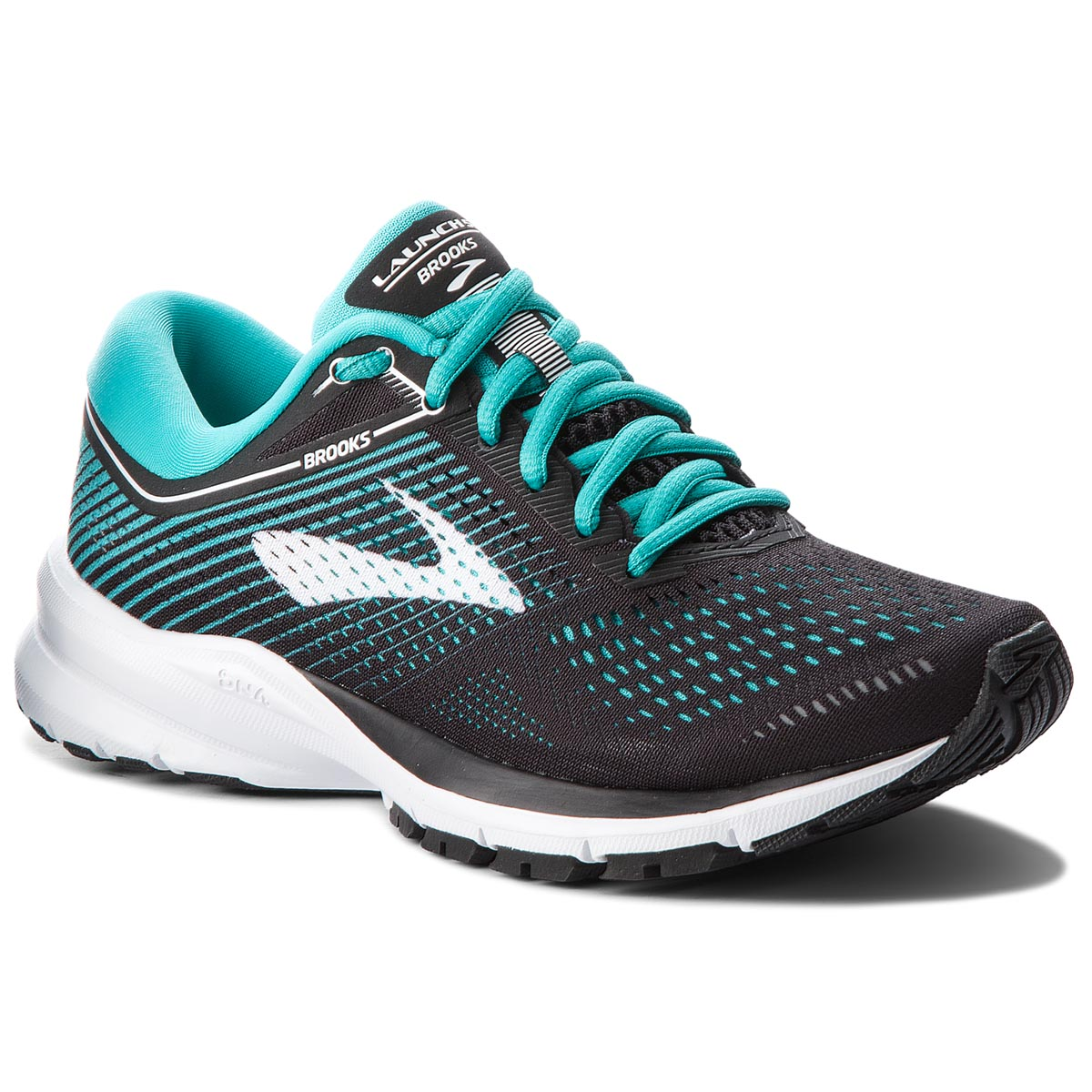 Buty BROOKS - Launch 5 120266 1B 003 Black/Teal Green/White