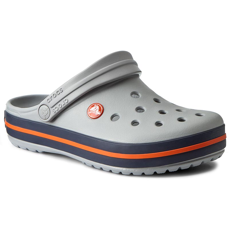 Klapki CROCS - Crocband 11016 Light Grey/Navy
