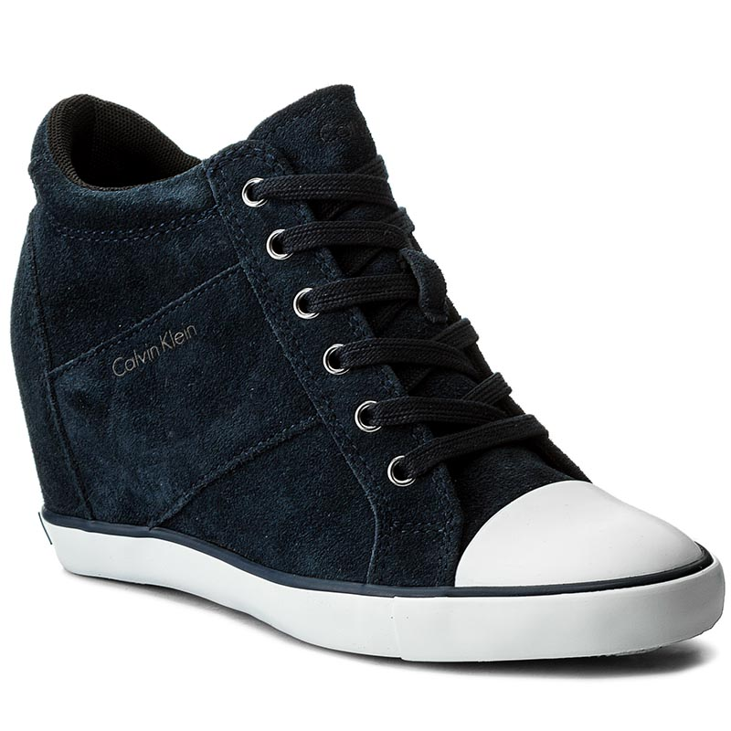 Sneakersy CALVIN KLEIN JEANS - Voss Suede RE9359 Midnight