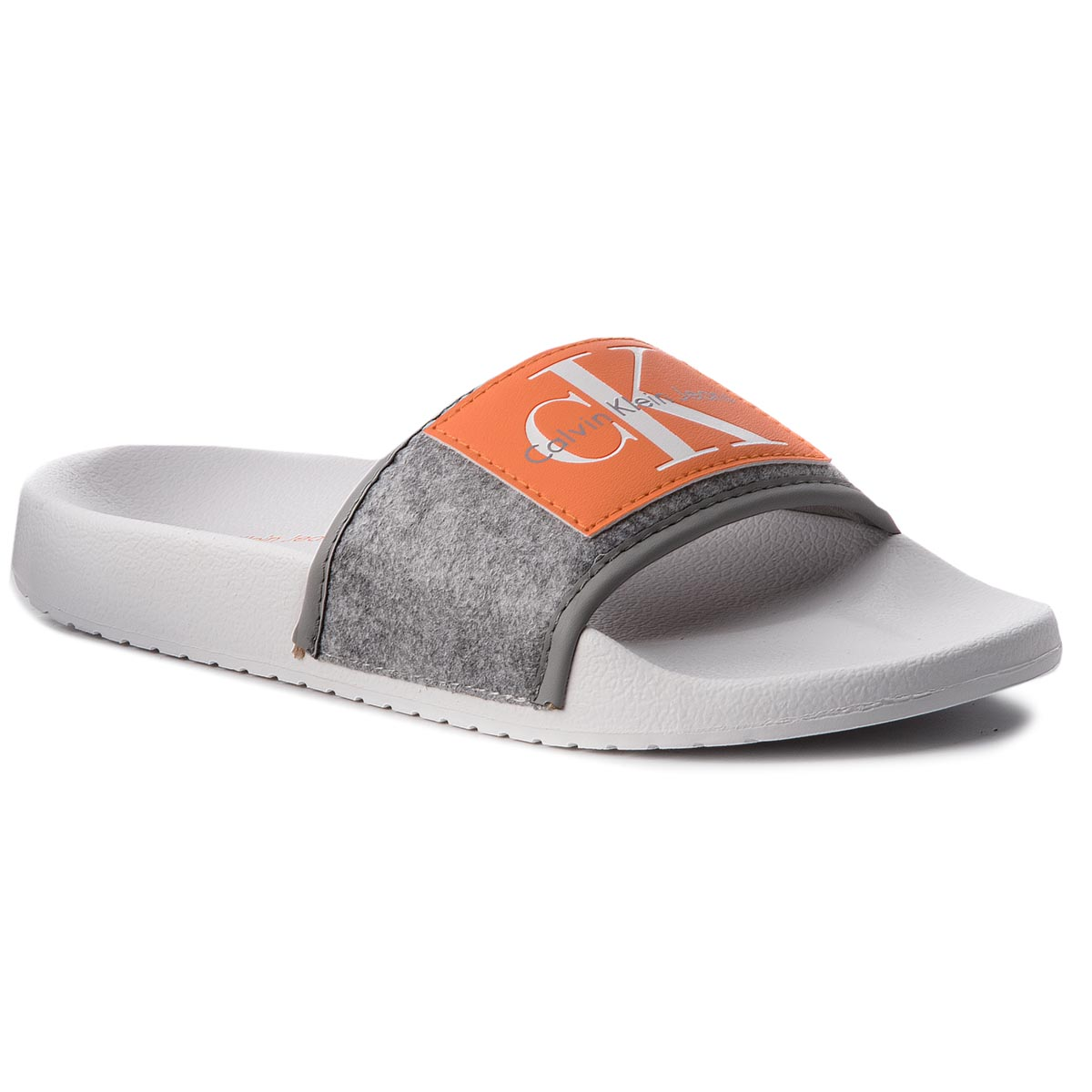 Klapki CALVIN KLEIN JEANS - Cherie RE9810 Airforce Grey