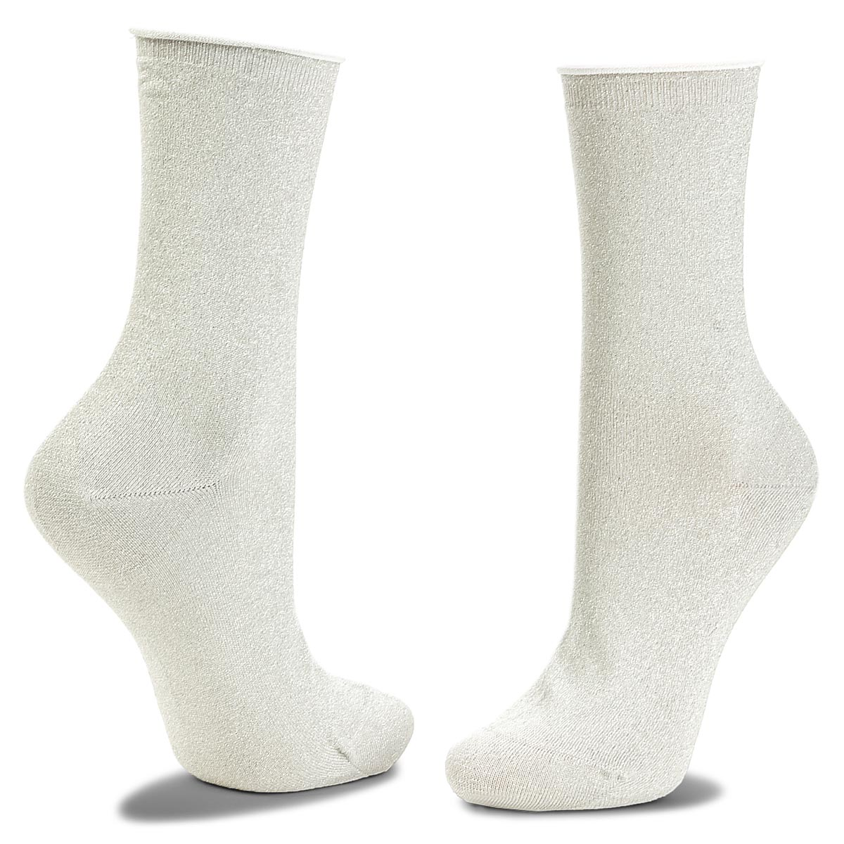 Skarpety Wysokie Damskie JOOP! - Lurex Sock Ier 760.059 Light Grey Melange 2400M