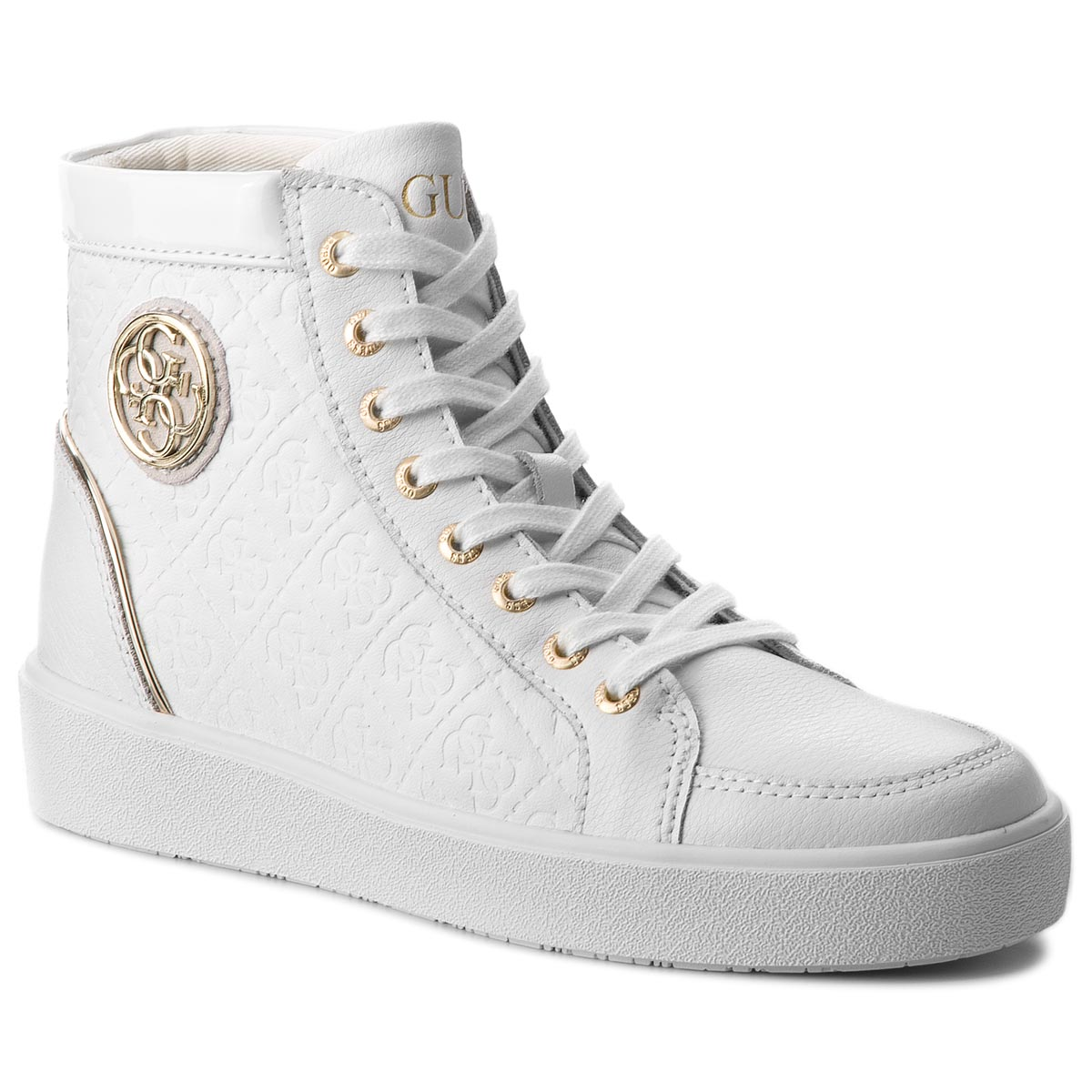 Sneakersy GUESS - FLACE3 LEP12 WHITE