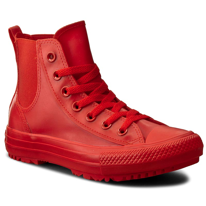 Trampki CONVERSE - Ctas Chelsea Boot Rubber Hi 553265C Signal Red/Signal Red