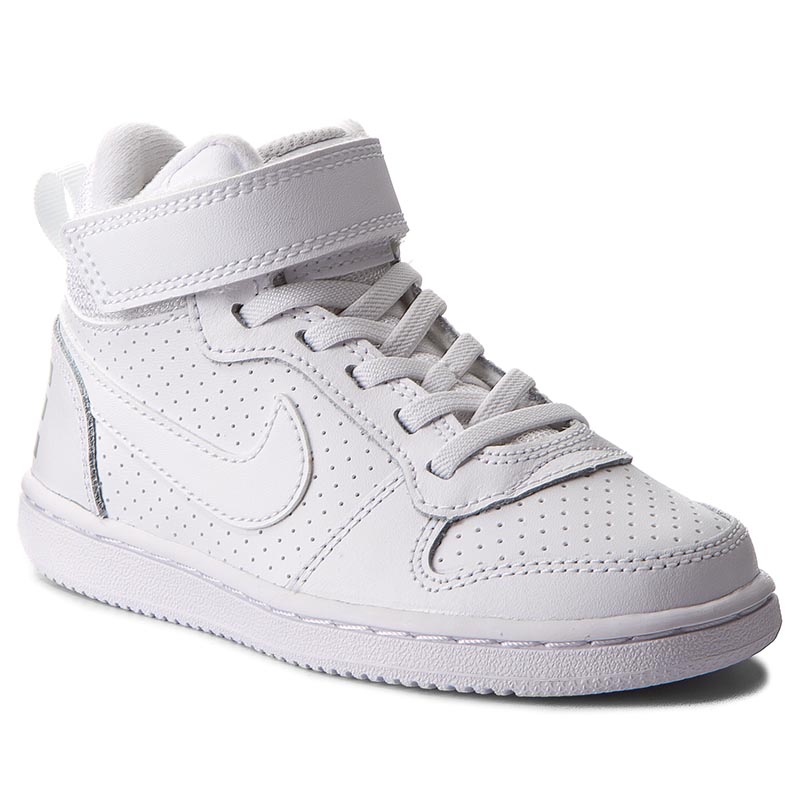 Buty NIKE - Court Borough Mid 870026 100 White/White