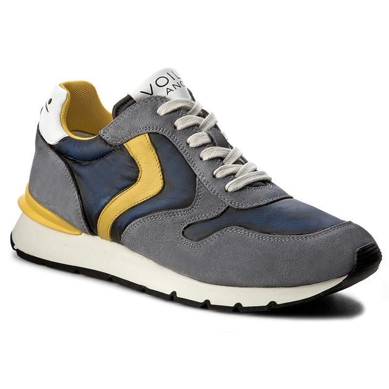 Sneakersy VOILE BLANCHE - Liam Race 0012011204.01.9101 Denim/Giallo