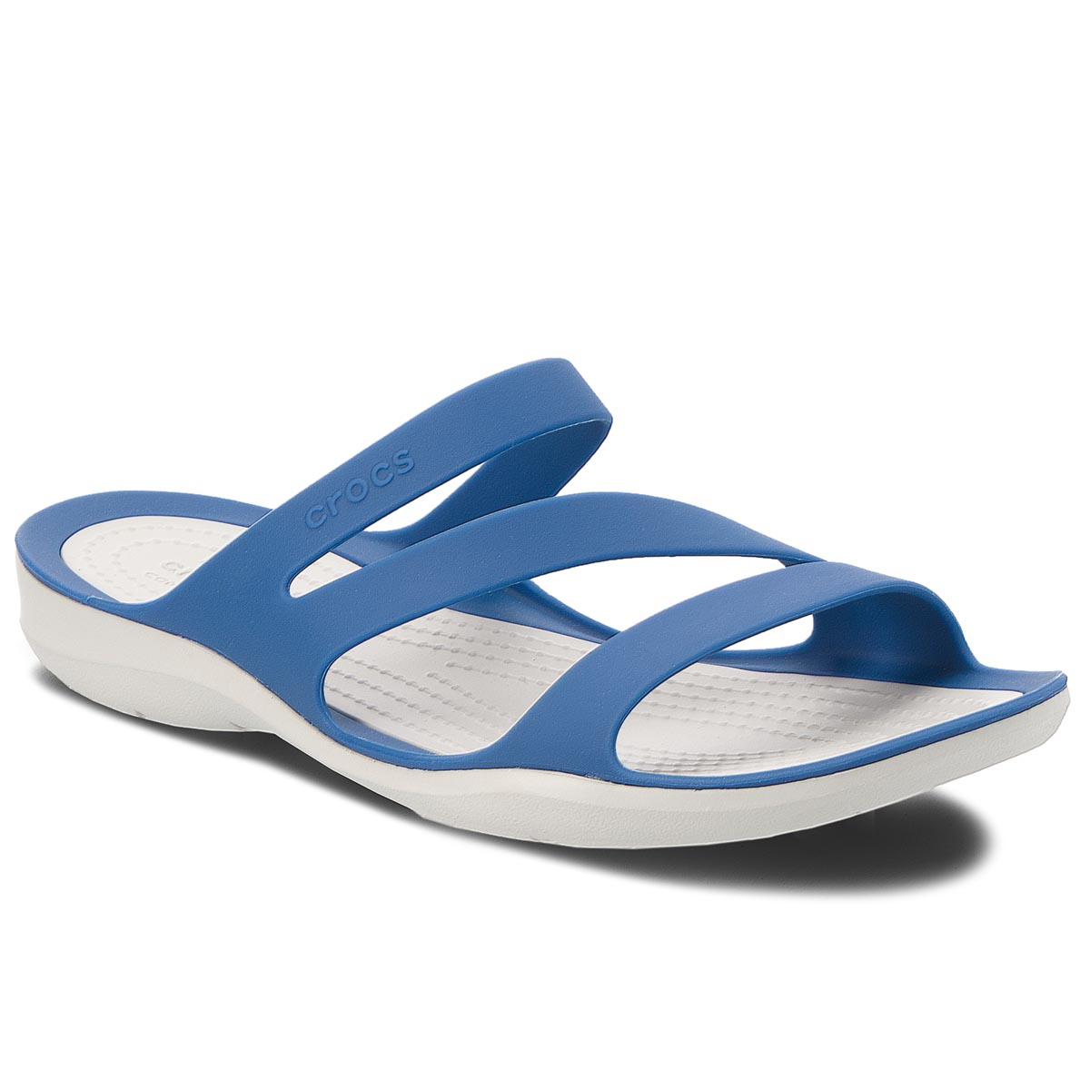 Klapki CROCS - Swiftwater Sandal W 203998  Blue Jean/Pearl White