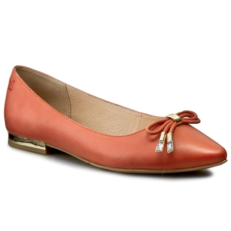 Baleriny CAPRICE - 9-22112-28 Orange Nubuck 611